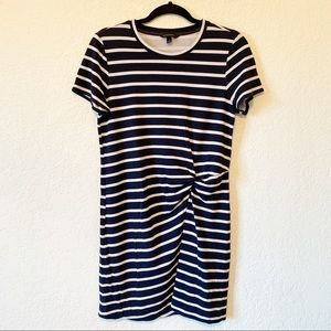 Banana Republic Navy & White Knot Front Tee Dress